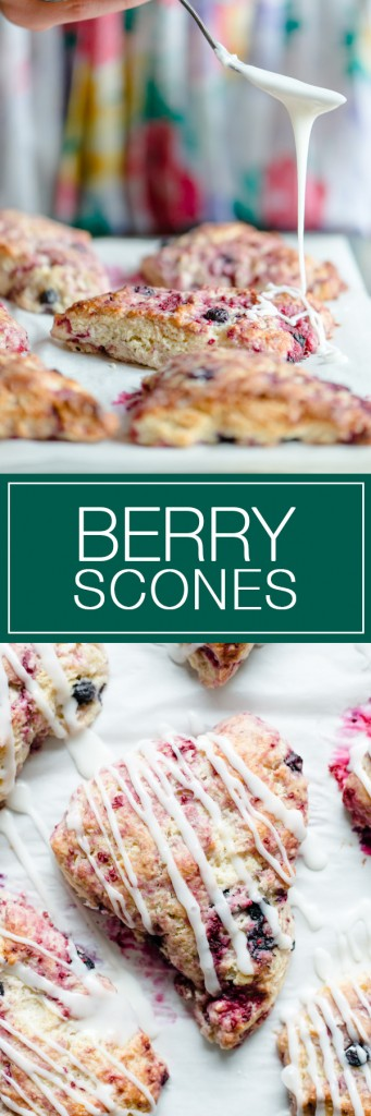 Berry Scones - Very moist, with lots of berries.