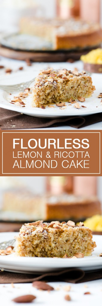 Flourless Lemon & Ricotta Almond Cake - Great alternative to a traditional flour based cake.