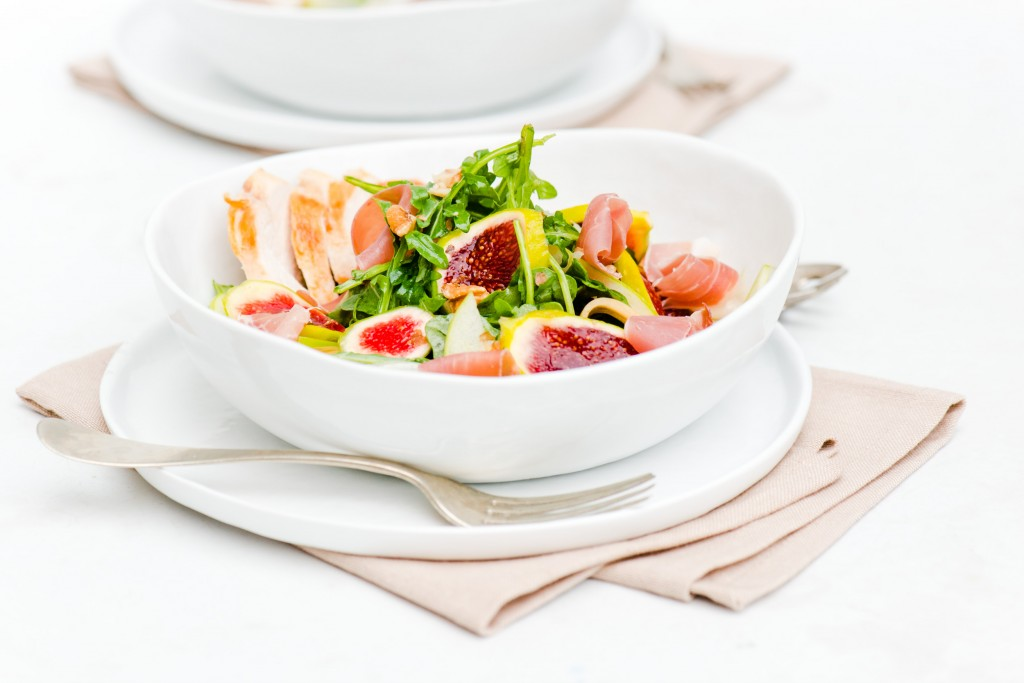 Fig, Prosciutto & Melon Salad - Love fresh figs!