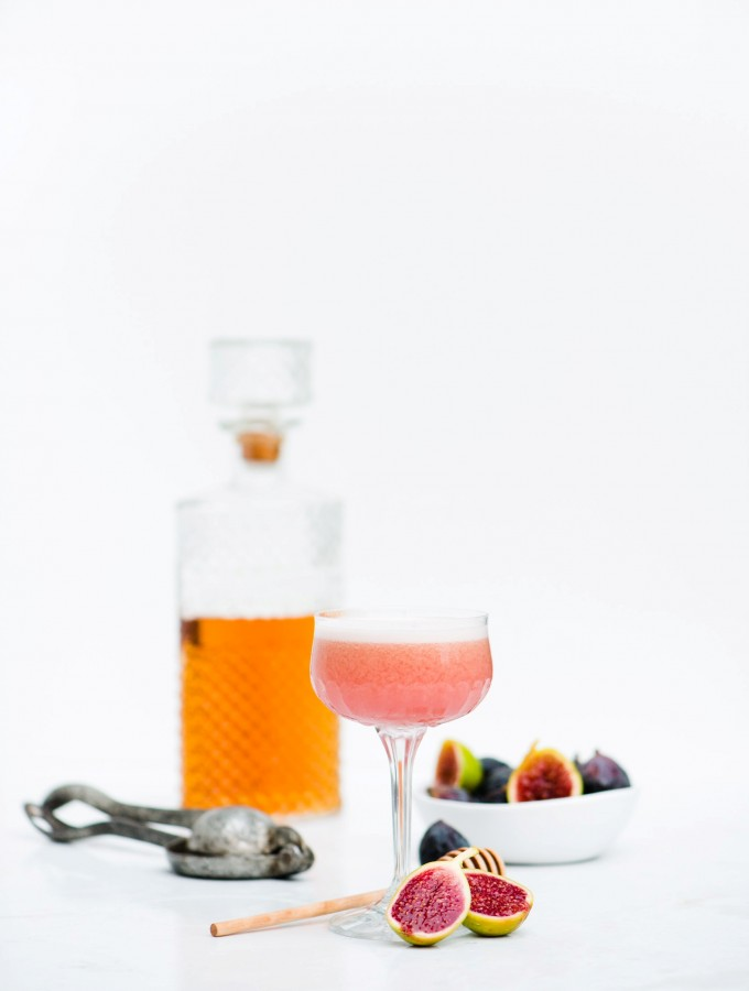Fig & Bourbon Sour - The figs give this cocktail such a beautiful colour.