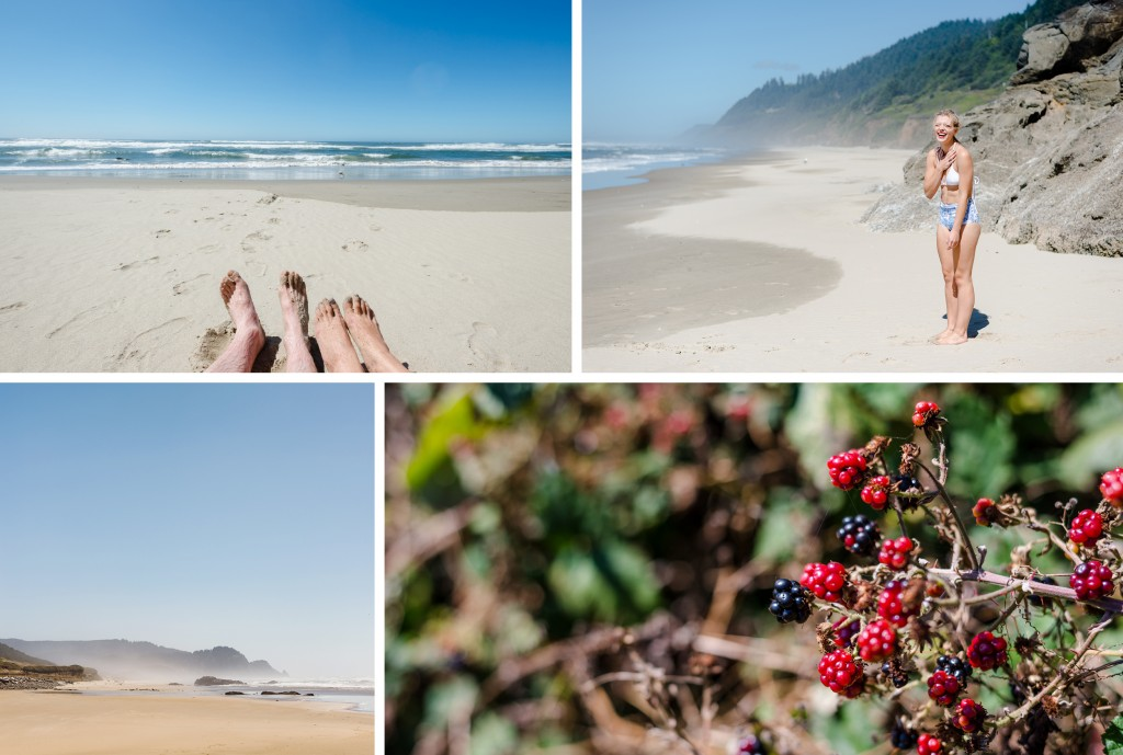 Oregon Coast - Fresh marionberries and Oregon Coast beaches.