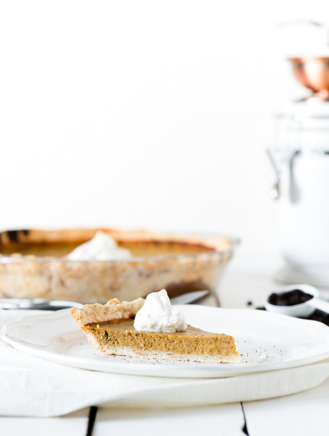 Pumpkin Coffee Pie - Pumpkin pie, with coffee built in!