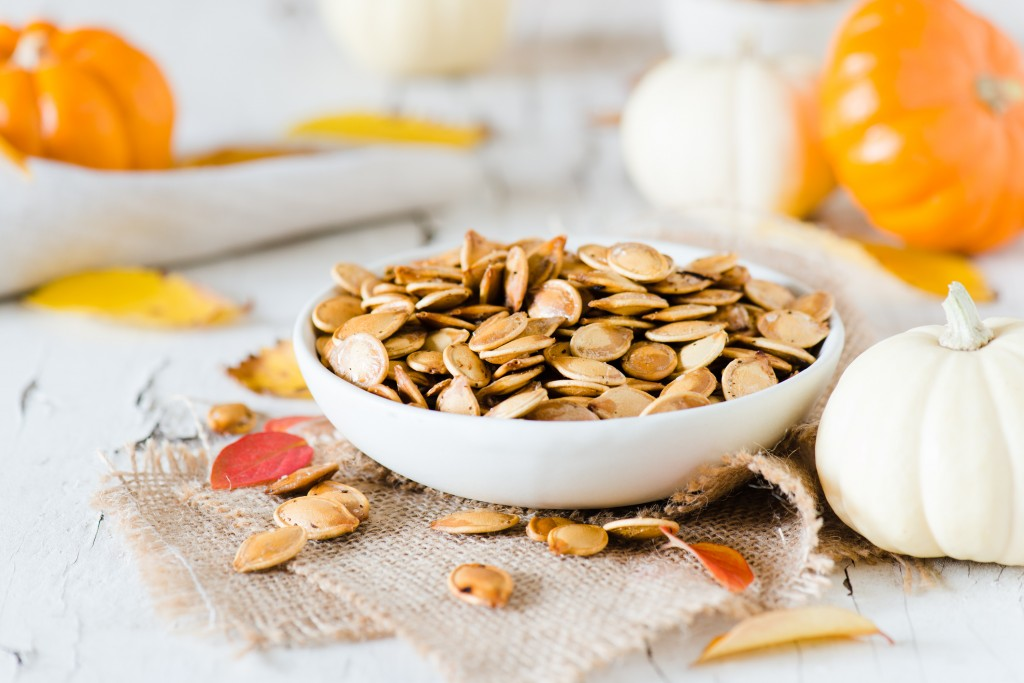 Roasted Pumpkin Seeds - One of the best parts of pumpkin!
