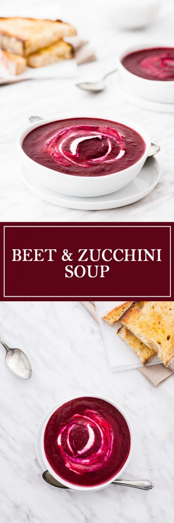 Beet & Zucchini Soup - Beets give everything such a beautiful colour!
