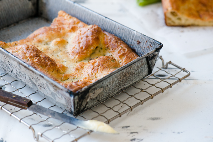 Black Pepper & Chive Popover Bread - The magic of Popovers in a loaf. This stuff is amazing!