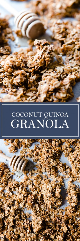 Coconut Quinoa Granola - This easy homemade granola is great for breakfast on yogurt, as cereal, or just plain!