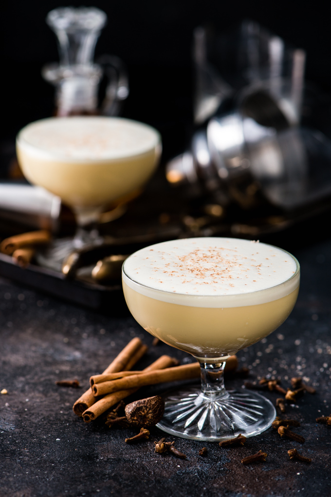 Egg Nog Cocktail - We'll be slinging this egg nog all winter!