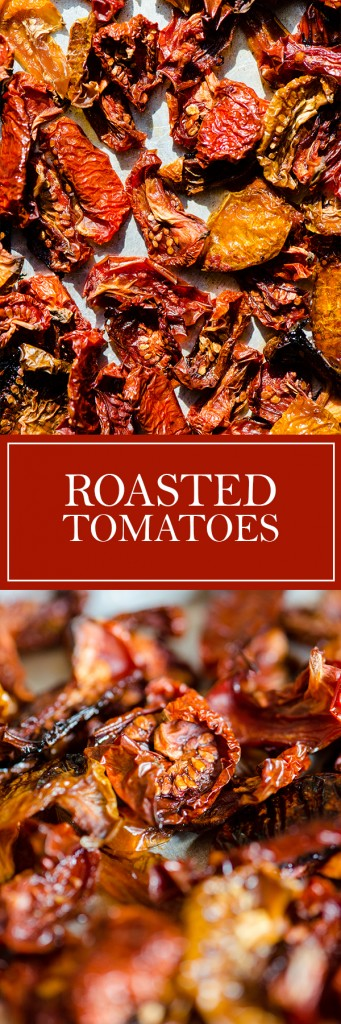 Roasted Tomatoes - A super easy and great way to preserve all those garden tomatoes.