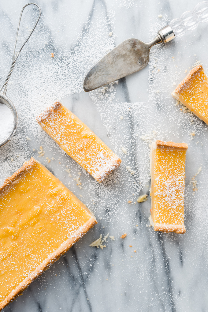 Grapefruit Curd & Olive Oil Tart - Grapefruit adds a wonderful tartness to this dessert