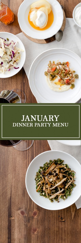January Dinner Party Menu - A blend of hearty winter flavours with nutritious and refreshing ingredients, perfect for the new year!